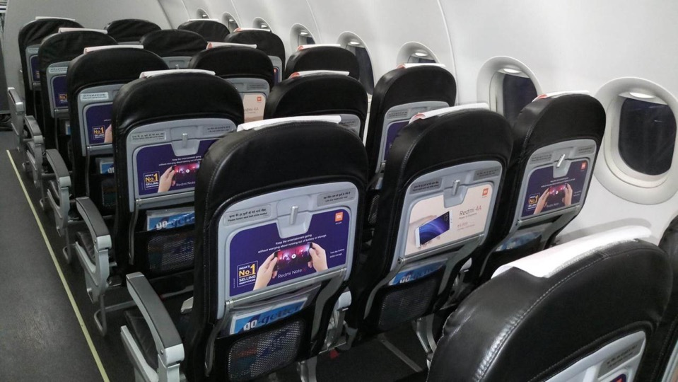 Inflight Seat Board for Chair Advertising